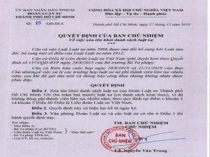 Đề nghị thu hồi chứng chỉ luật sư của 320 người bị xóa tên ở Đoàn Luật sư TP. HCM